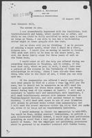 Letter from James A. Michener to Governor William P. Clements, Jr., August 16, 1981