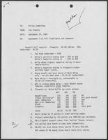 Memo from Jim Francis to the Policy Committee regarding September 7-12 Poll Highlights and Comments, September 23, 1982
