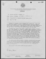 Memo from Milton Holloway to William P. Clements, March 18, 1982