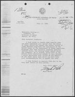 Letter from Mark White to William P. Clements regarding regulation of Roloff Homes, July 13, 1981