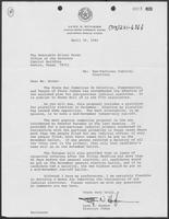 Letter from Lynn Hughes to Hilary Doran regarding non-partisan judicial elections, April 30, 1982