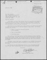 Letter from Wilford J. Forbush to John Townsend, April 14, 1981