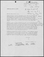 Draft Letter from William P. Clements, Jr., written by David A. Dean, to Meers and Coyle