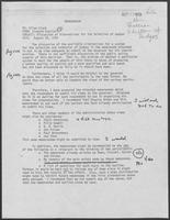 Memo from Richard English to Allen Clark regarding Discussion of Alternatives for the Selection of Judges, August 29, 1980