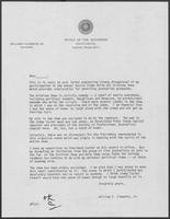 Letter from William P.Clements regarding Clements's participation in annual Austin Sigma Delta Chi Gridiron Show, undated