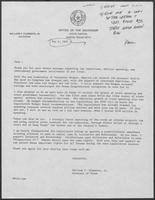 Statement regarding tax reduction position, May 5, 1981