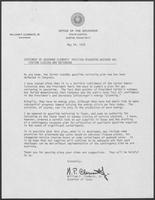 Statement regarding weekend gas station closing and rationing, May 24, 1979