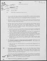 Memo from Jim Cicconi to Doug Brown regarding State Plan to Implement the Clean Air Act, July 10, 1979