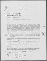 Memo from Mit Spears to William P. Clements Jr. regarding Texas Deepwater Port Authority--License, August 9, 1979