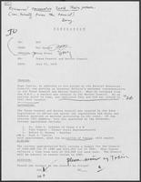 Memo from Mit Spears to William P. Clements Jr. regarding Texas Coastal and Marine Council, July 23, 1979