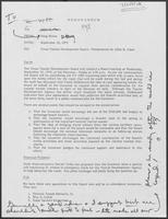 Memo from Doug Brown to Allen Clark regarding Texas Tourist Development Board-Presentation by Allen B. Clark, September 18, 1979