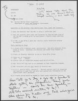 Memo from Doug Brown to William P. Clements Jr. regarding Nuclear Boiler Plant Inspection Department of Labor and Standards Involvement, April 9, 1979