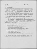 Memo from Doug Brown to William P. Clements Jr. regarding Problem Summary, May 1, 1979