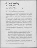 Memo from Don Cavness to Doug Brown regarding use of outside consultants by State departments, September 12, 1979