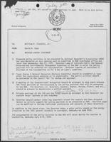 Memo from David Dean to Bill Clements, May 22, 1979