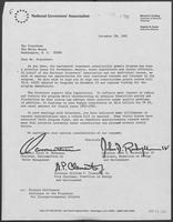 Letter from Scott M. Matheson, John D. Rockefeller, and Bill Clements, to Ronald Reagan, December 28, 1981