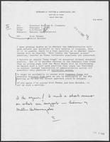 Memorandum from Edward Vetter to Bill Clements, February 1, 1982