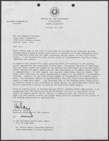 Letter from Hilary B. Doran to Lee Biggart, Chairman of Texas Water Commission, October 29, 1982