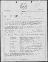 Memo from David Dean to Tobin Armstrong, regarding West Texas State University Regent Appointment, August 9, 1979