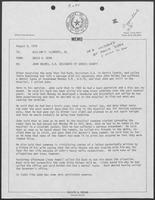 Memo from David Dean to William P. Clements, Jr. regarding John Holmes, D.A. Designate of Harris County, August 9, 1979