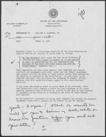 Memo from David A. Dean to William P. Clements, March 13, 1979