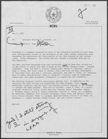 Memo from David A. Dean to William P. Clements, May 2, 1980