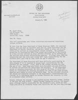 Letter from William P. Clements to Carol Stacy, December 8, 1980