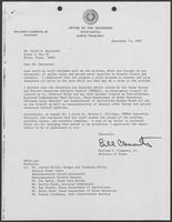 Letter from William P. Clements to Mr. Ralph E. Hoelscher with attached letter Milton L. Holloway, Executive Director Texas Energy and Natural Resources Advisory Council, September 13, 1982