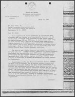 Correspondence between William P. Clements and Leon Green, February 15- March 24, 1982