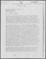 Letter from William H. Wilcox to William P. Clements, Jr., regarding disaster aid after Tropical Storm Claudette, July 30, 1979