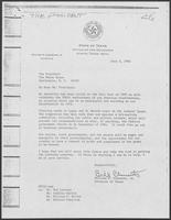 Letter to Ronald Reagan from Bill Clements, June 3, 1982