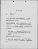 Memo from Polly Sowell to Allen Clark, August 18, 1980