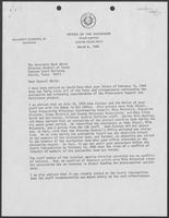 Letter from Mark White to William P. Clements, March 6, 1980