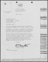 Correspondence between William P. Clements and Mark White, July 9-16, 1981