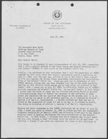 Correspondence between William P. Clements and Mark White, July 28-31, 1981