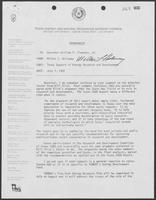 Memo from Milton Holloway to William P. Clements Jr. regarding Texas Support of Energy Research and Development, July 1, 1982