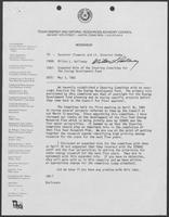 Memo from Milton Holloway to William P. Clements and William Hobby regarding expanded role of the Steering Committee for the Energy Development Fund, May 3, 1982