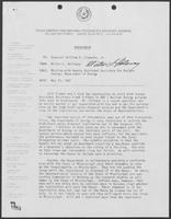 Memo from Milton Holloway to William P. Clements regarding meeting with Deputy Assistant Secretary for Nuclear Energy, Department of Energy, May 13, 1982