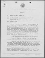 Memo from Milton Holloway to William P. Clements Jr. regarding participation in the Denver strategy meeting on the Windfall Profit Tax suit, October 21, 1981