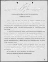 "Press release titled ""Clements-Backed Crime Package, Related Measures A Major Leap Forward,"" June 1, 1987"