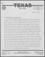"Newsletter titled ""Texas This Week"" December 10, 1982"