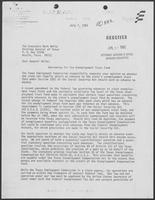 Letter from James Hine to Mark White regarding Borrowing for the Unemployment Trust fund, July 7, 1982