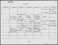 Campaign Schedule Calendar for William P. Clements and Rita Crocker-Clements, August to November 1986, August 14, 1986