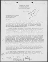 Letter from Robert D. Gunn to William P. Clements, Jr., July 18, 1986