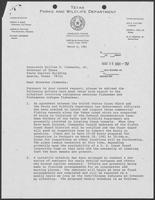 Letter from Charles Travis to William P. Clements, Jr. regarding Vietnamese fishermen, March 6, 1981