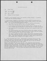 Memo from Jim Cicconi to Allen Clark regarding Refugee Training Programs, May 6, 1980
