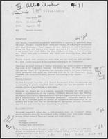 Memo from Jim Cicconi to Doug Brown regarding Seadrift Situation, August 13, 1979