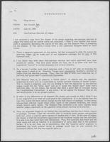 Group of documents regarding non-partisan election of judges, June 1980 - July 1980
