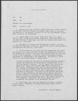 Memorandum from Allen B. Clark to Governor William P. Clements, Jr., January 9, 1981