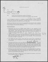 Memo from Allen B. Clark to Governor William P. Clements, Jr., February 19, 1980